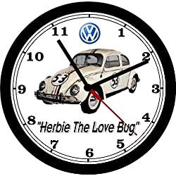 VOLKSWAGEN BEETLE HERBIE THE LOVE BUG WALL CLOCK-FREE USA SHIP!