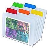 Pendaflex 55702 Pendaflex EasyView Poly File Folders, 1/3 Cut, Top Tab, Letter, Clear, 25/Box