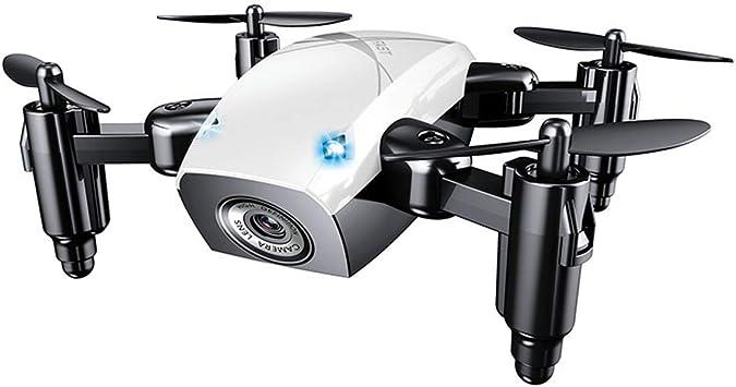Opinión sobre Mallalah S9HW Mini Drone con cámara HD S9 plegable RC Quadcopter altitud helicóptero WiFi FPV Micro bolsillo Dron No Cámara size No Cámara (blanco)