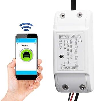Smart WiFi Garage Door Remote Controller Door Opener Device Multi-User Access and Remote Monitor Support for Alexa Google US