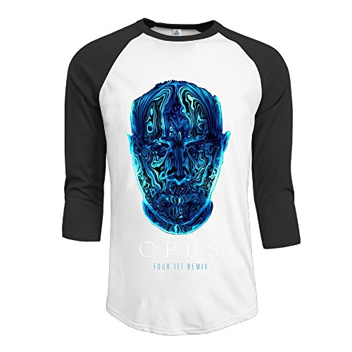 Opus Eric Prydz Athletic Fits Normal Summer Mens 3/4 Sleeve\r\n Baseball Stadium Jersey T (Opus Nasal Pillow)