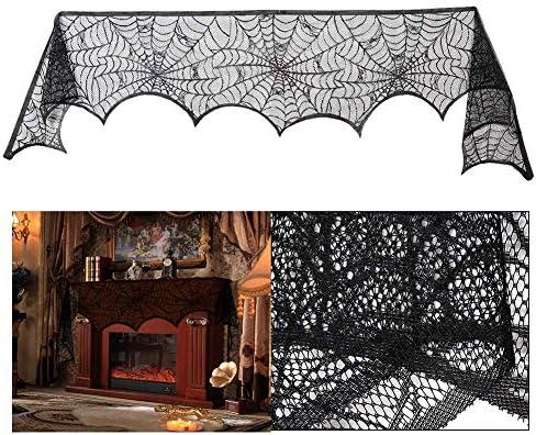 51aTOzKuNqL. AC  - Black Halloween Garland Mantle Decorations Indoor