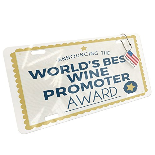 Metal License Plate Worlds Best Wine Promoter Certificate Award - Neonblond