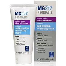 MG217 Psoriasis Cream, 3% Salicylic Acid Multi-Symptom Moisturizing Psoriasis Cream, 3.5 Fluid Ounce