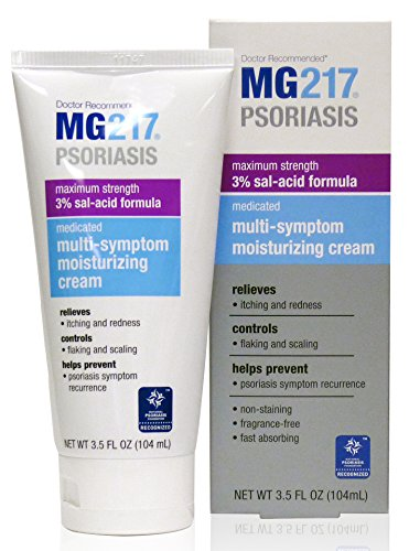 MG217 Psoriasis Cream, 3% Salicylic Acid Multi-Symptom Moisturizing Psoriasis Cream, 3.5 Fluid Ounce
