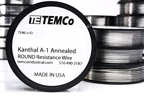 TEMCo Kanthal A1 wire 30 Gauge Resistance AWG A-1 ga