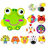 Here Fashion Paper Plate Craft Art kit animal paper plate crafts set 10 pcs preschool learning toys pattern A