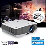 LED Projector Portable LCD Multimedia Home Theatre Video Projector 2600 Lumen Support HD