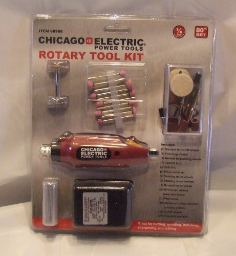 Maroon Rotary Tool Kit - 80 Pc by Harbor Freight Tools