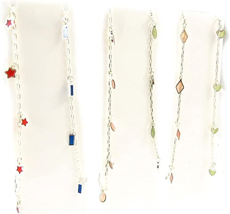 Set of 6 ankle chains Coloriage tutti frutti.