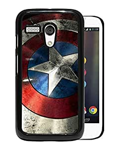 Grace and Nice Case Captain America Shield Motorola Moto G Phone Case in Black