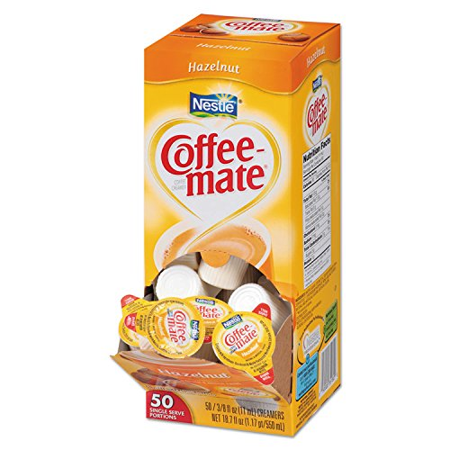 Coffee-mate 35180CT Hazelnut Creamer.375 oz, 200 Creamers/Carton