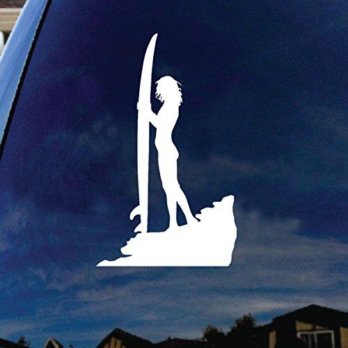Sexy Surfer Girl Surfboard Silhouette Car Window Vinyl Decal Sticker 4