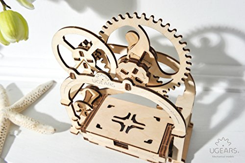 Ugears Mechanical Etui 3D Puzzle, Wooden Building Blocks, Decorative Desktop Business Card Holder, Brain Teaser Game For Teens And Adults