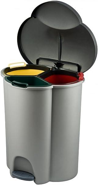 Curver Trio Waste Bin 3 Parts 40 Litres Grey Amazon Co Uk