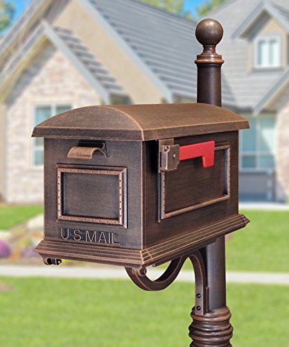 - Special Lite Products SCT-1010-CP Traditional Curbside Mailbox, Black