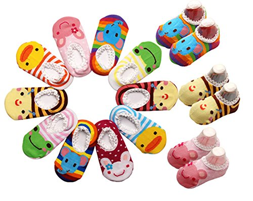 10 Pairs Baby Socks 6-12 Months Toddler Stripes Non