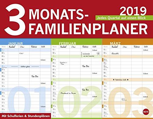 3-Monats-Familienplaner - Kalender 2019
