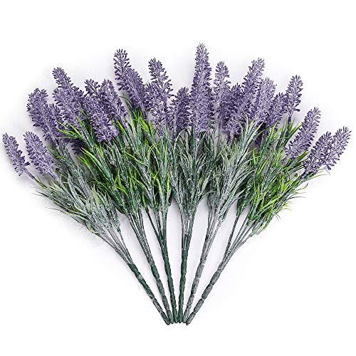 Flocked Lavender Flowers Bouquet Romantic DIY Fake Flowers for Wedding Table Decoration Home Decor(Purple) ()