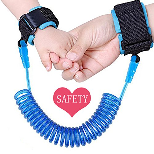 DREAMZE Baby Child Anti Lost Safety Velcro Wrist Link (2.5m Blue)