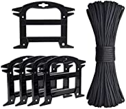 TOBWOLF 31m / 100ft 4mm 550 Paracord Rope with 5PCS Line Winders, Heavy Duty Nylon Parachute Cord, 7 Strand Co