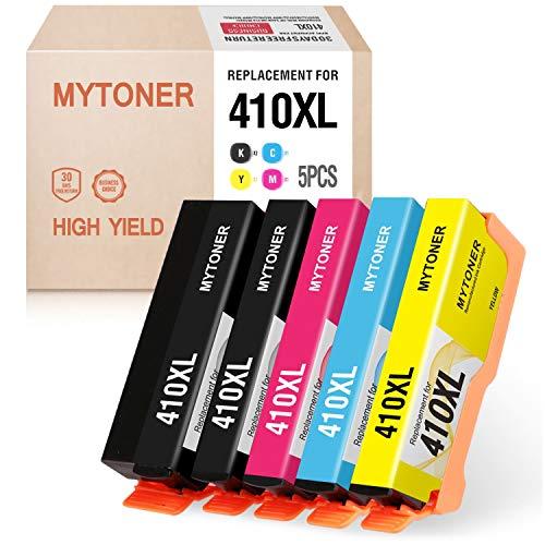 MYTONER Remanufactured Ink Cartridge Replacement for Epson 410XL 410 XL T410XL Ink for XP-7100 XP-830 XP-640 XP-530 XP-630 XP-635 Printer (Black,Photo Black,Cyan,Magenta,Yellow, 5-Pack)