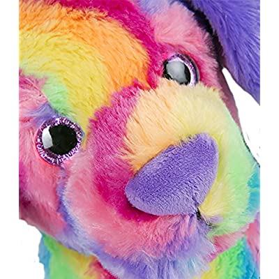 Cuddly Soft 16 inch Stuffed Rainbow Stripe Dog...We Stuff 'em...You Love 'em!: Toys & Games