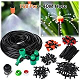 OUTERDO Micro Drip Irrigation Kit, Patio Plant Watering Kit Garden Mist Cooling Irrigation System Automatic Micro Flow Drip Watering System