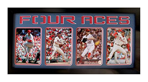 Encore Select 350-57 MLB Philadelphia Phillies Four Photo Framed Sports Memorabilia, 15-Inch by 35-Inch