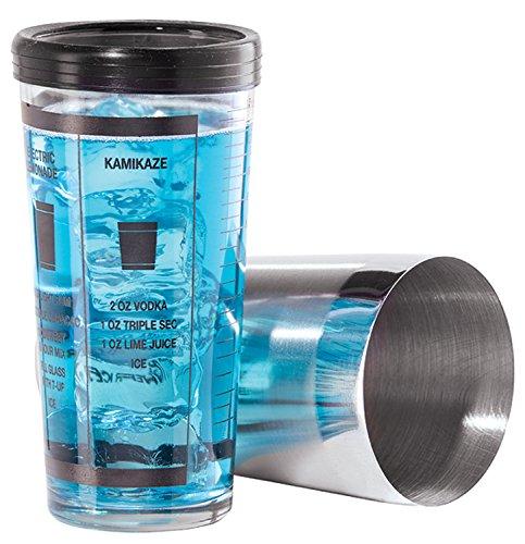 Oggi Professional 15-Ounce Glass and Stainless Steel Cocktail Shaker Set - Oggi Bottle Stopper