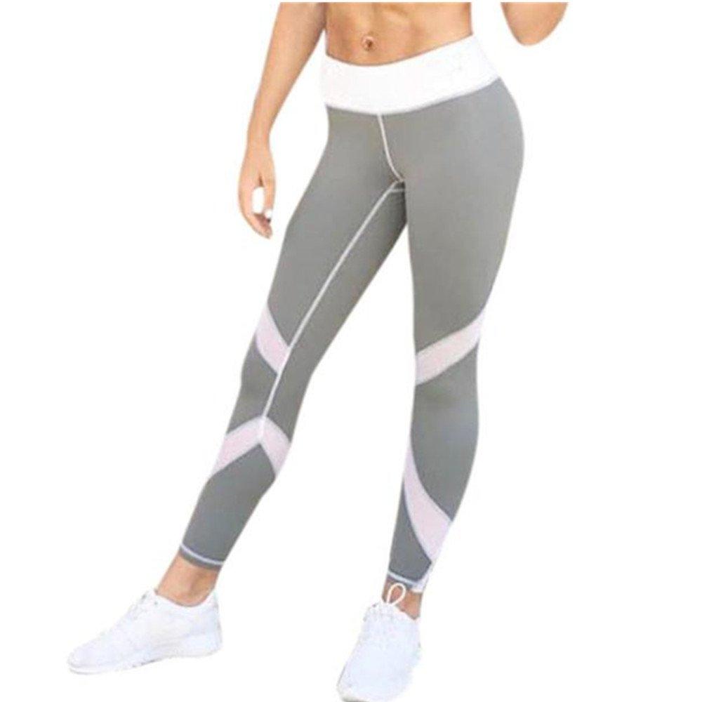 Homebaby Striscia Sport Leggings Sportivi Donna Pantaloni - Eleganti Leggings Yoga Opaco Fitness Spandex Palestra Pantaloni Leggins Push Up- Pantaloni Capri Tuta Donna
