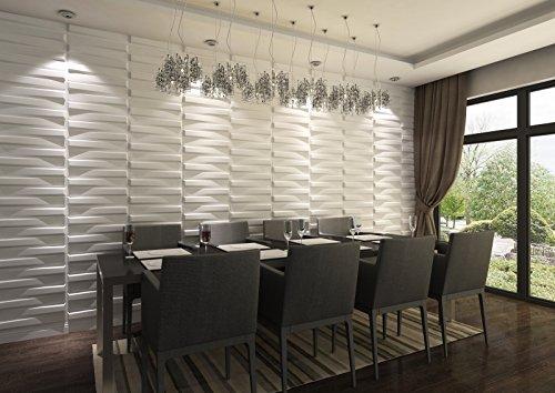 3D Decorative Wall Panels/Paintable Plant Fiber Design/Textured Eco Friendly Modern Wall Decor for TV Walls/Bedroom / Living Room - Panels Wall 3d Textured