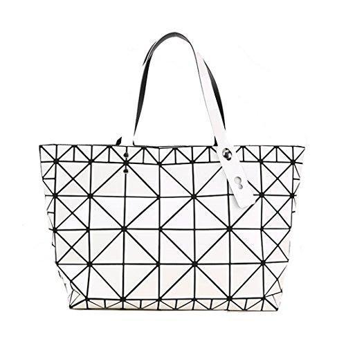 à Qualité femelle à femmes des Designer Diamants Sac main bandoulière Sacs White tendance mosaïque Argent géométrique Sacs HxdqPRR