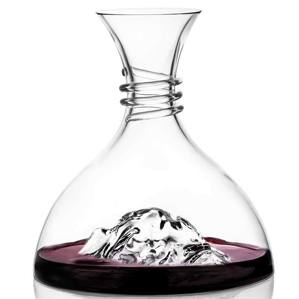 Eisberg Wine Decanter Aerator-100% Hand Blown Lead-Free Crystal Glass,Brand-New Design Elegant Red Wine and Liquor Carafe Set,Crafted Liquor Accessories,Wine Gift for Friends and Family