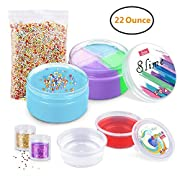 LOYO Fluffy Slime, 6OZ Baby Putty Floam Slime Sensory Play Stress Relief Toy ADHT ASMR No Borax with Nice Fragrance & Storage Container for Kids & Adults