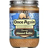 Once Again Almond Butter - Natural - Creamy - Salt Free - 16 oz - case of 12 - Gluten Free