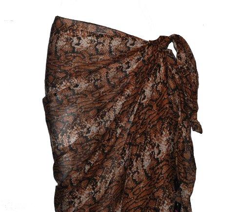 Diseño de piel de marrón de piel de serpiente con estampado de horóscopo