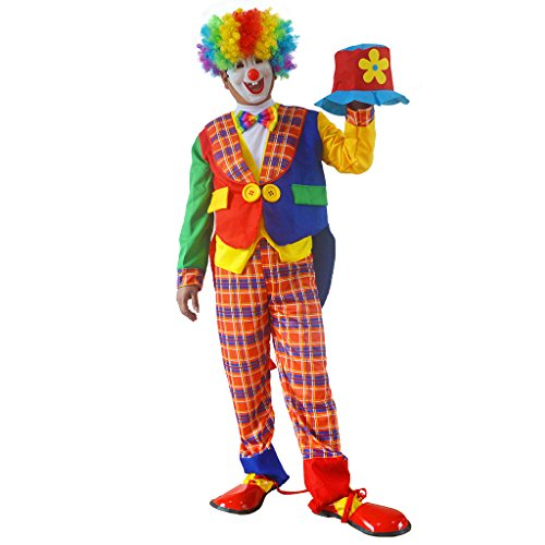 [RIY Novelties Clown Complete Costume for Unisex Adult, Funny and Goofy #R0010] (Clown Around Makeup Kit)
