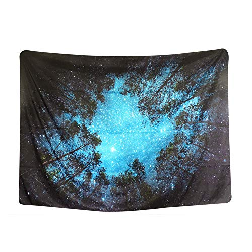 - Forest Starry Tapestry, Home 3D Forest Tapestry Tree Night Sky Tapestry, Living Room Bedroom Decoration Tapestry, Mattress, Tablecloth (51.2