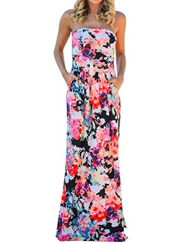 2017 Vintage Floral Print Boho Maxi Dress Plus Size - 1