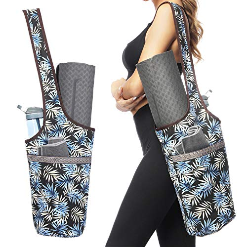 Ewedoos Yoga Mat Bag with Large Size Pocket and Zipper Pocket, Fit Most Size Mats. (Ice)