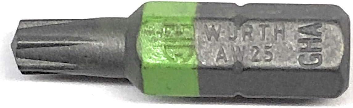 W/ürth AW25 Lot de 10 embouts non Torx