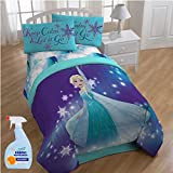 Disney Frozen Magical Winter 5-Piece FULL Size Bed in a Bag Reversible Comforter Set with Fabric Freshener