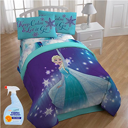 Mouse Killer Costume (Disney Frozen Magical Winter 5-Piece FULL Size Bed in a Bag Reversible Comforter Set with Fabric Freshener)