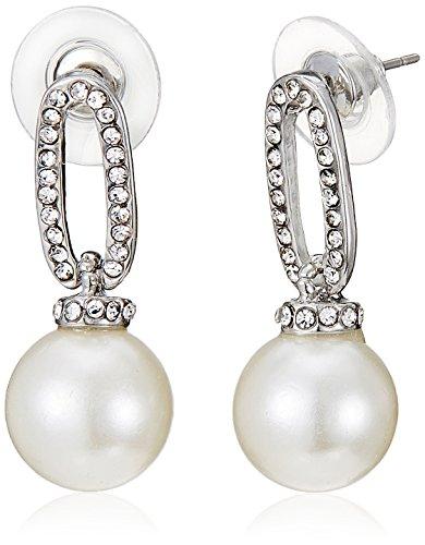 Pout Out Drop Earrings for Women (Silver) (EAR-DGL-222)