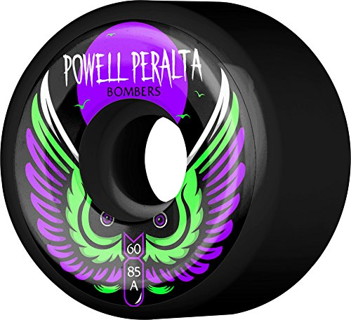 - Powell-Peralta Bombers 60mm 85A Black Skateboard Wheels