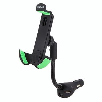 Cargador Soporte de Coche de USB para Smartphone Demiawaking Cargador con Soporte para Móvil Carga USB Soporte para Smartphone de Coche con 3 Puertos ...