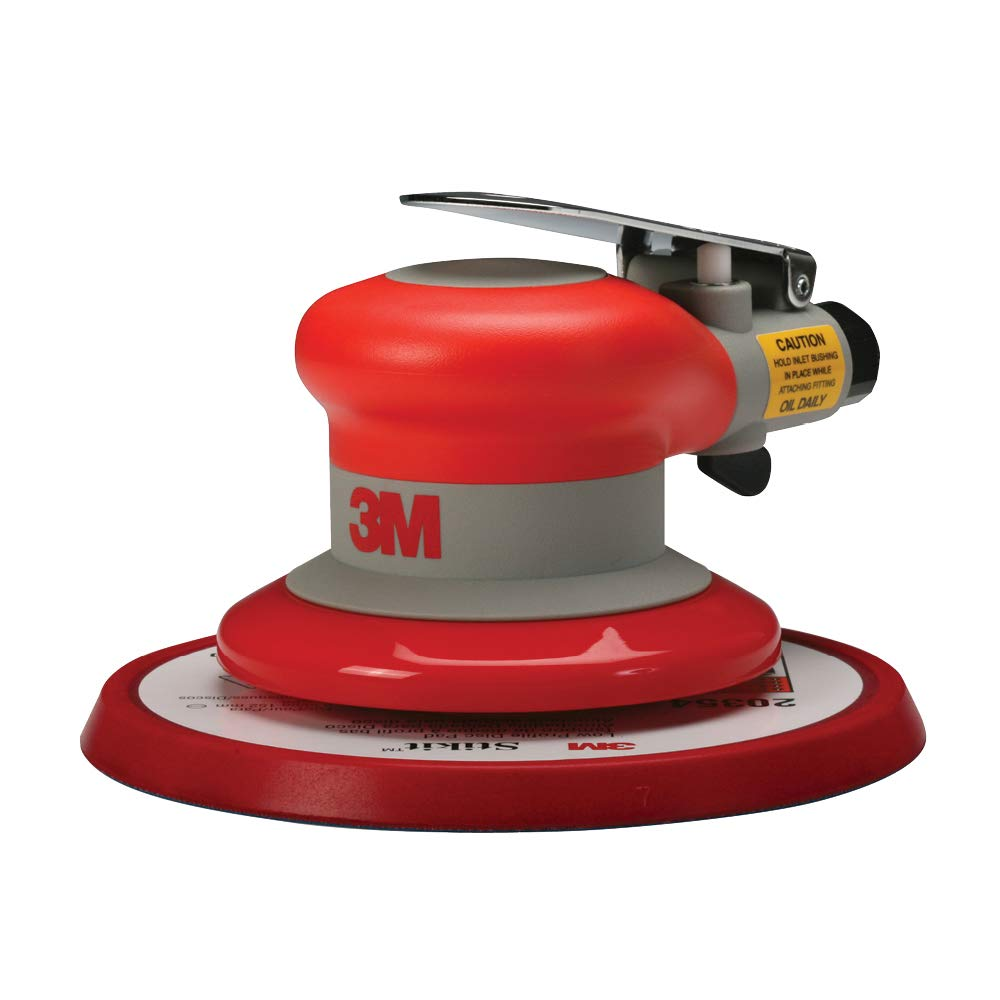 3M Random Orbital Sander Pneumatic Palm Sander 6 x 5 16 Diam. Orbit Stikit Disc Pad For Wood, Composites, Metal Original Series