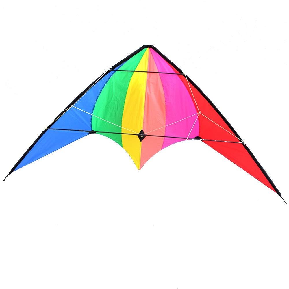 凧,カイトフライング B07QXN1L26 2.4mトライアングルレインボーダブルラインスポーツスタントカイト 屋外のおもちゃを飛ばすのが簡単 B07QXN1L26, Collaborn girl:c3ca4092 --- ferraridentalclinic.com.lb