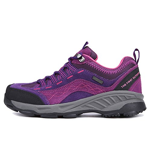 Rise Womens Shoes Breathable and Dark Purple amp; Hiking Trekking Durable Outdoor Shoes Low TFO Walking 8Uxw1qw5